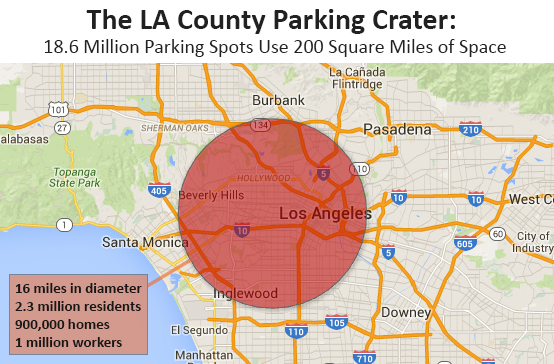 LA County parking crater